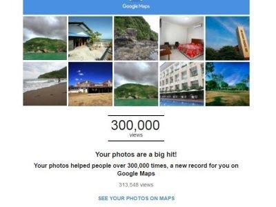 roshvisual Big Hit 300.000 on google map google local guides